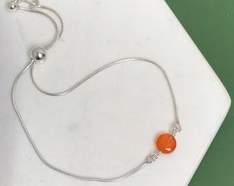 Carnelian Slide Bracelet