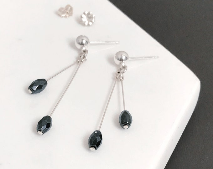 Featured listing image: Hematite Dangle Earrings