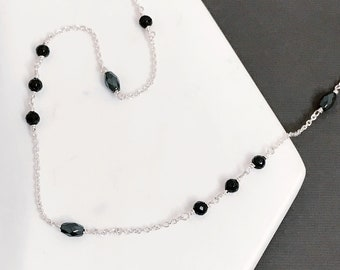Hematite & Black Spinel Necklace
