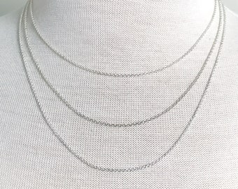 Thin Cable Chain Necklace