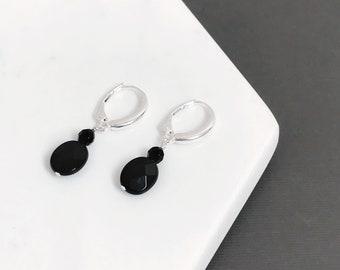 Black Agate Drop Earrings