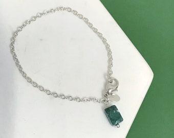Moss Agate Charm Bracelet