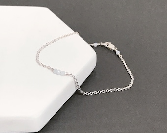 Blue Lace Agate Cluster Bracelet