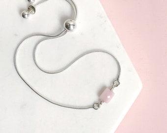Pink Opal Slide Bracelet