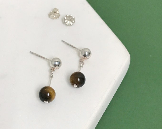 Featured listing image: Tiger's Eye Drop Earrings