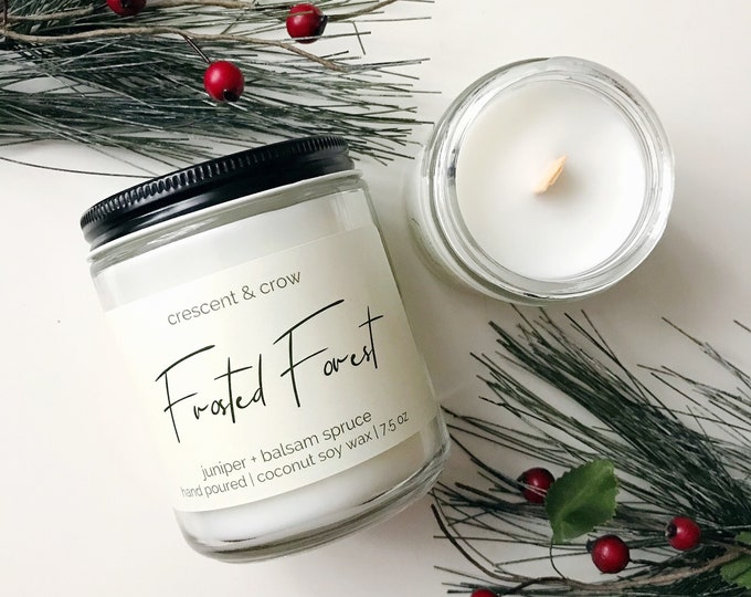 Featured listing image: Frosted Forest - Coconut Soy Candle