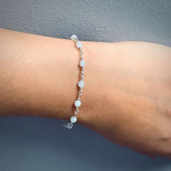 Amazonite Bead Chain Bracelet