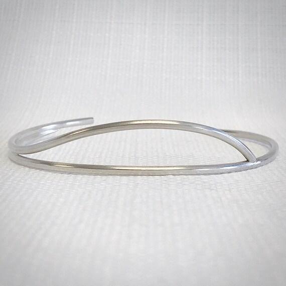 Swell Cuff Bracelet - Sterling Silver