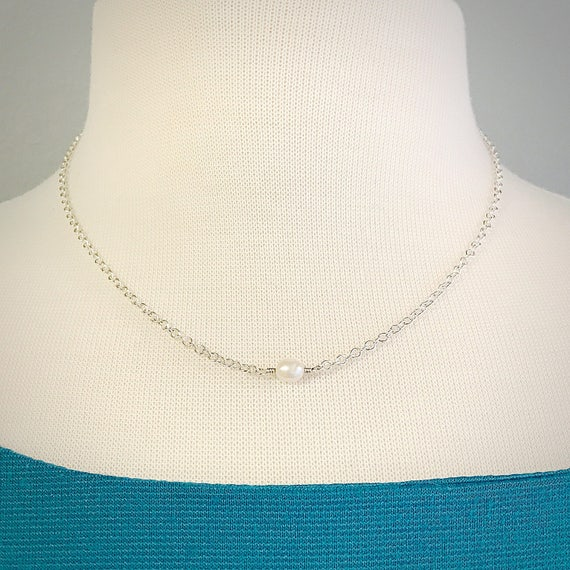 Pearl Single Bead Necklace