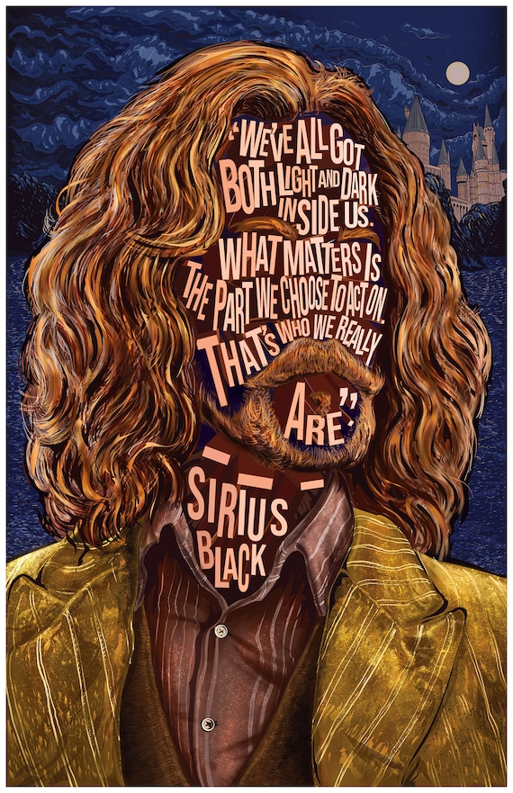 Harry Potter Inspired Pop Art Print w//Quote from SIRIUS BLACK 11/×14 print