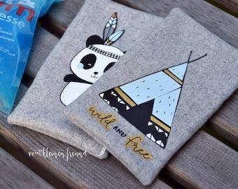 SVG Plottervorlage Boho Panda SET