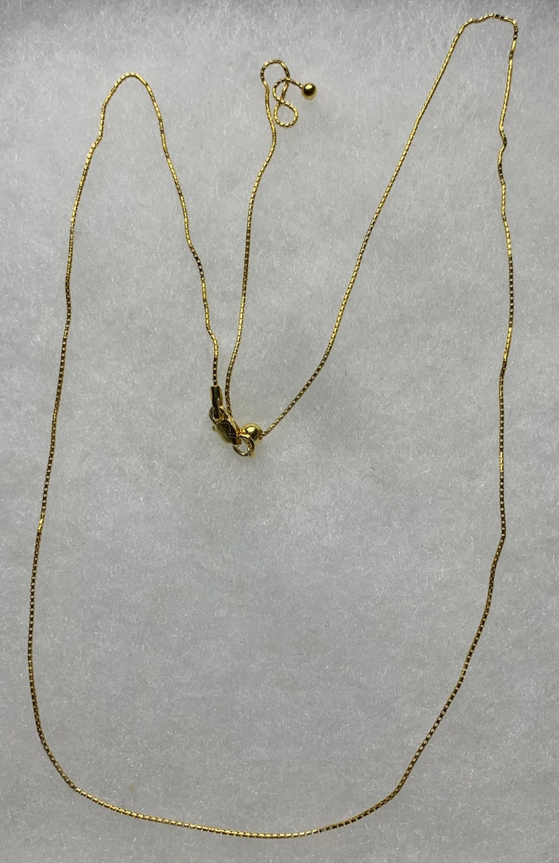 Adjustable  Vermeil chain over Sterling silver