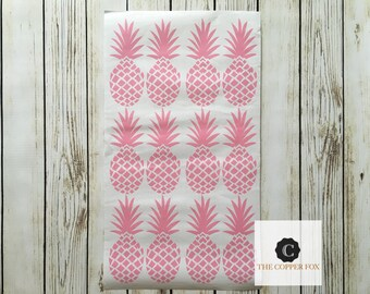 Pineapple Wall decal, removable wall decal, nursery wall decor