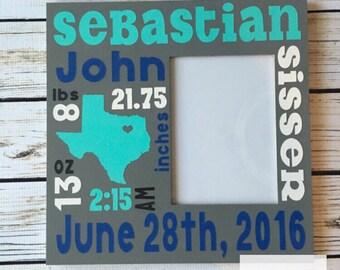 SALE*** Custom Birth Announcement Subway Art Picture Frame, Baby Room, Custom Birth Announcement, Baby Shower gift