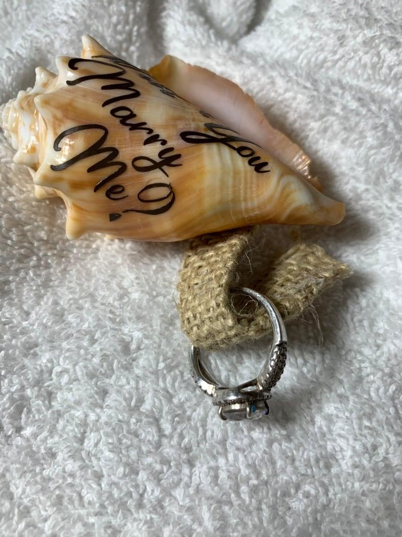 Beach Proposal seashellpersonalized Seashell Proposal Ring holderBeach Proposal seashell ring boxpersonalized proposal shell