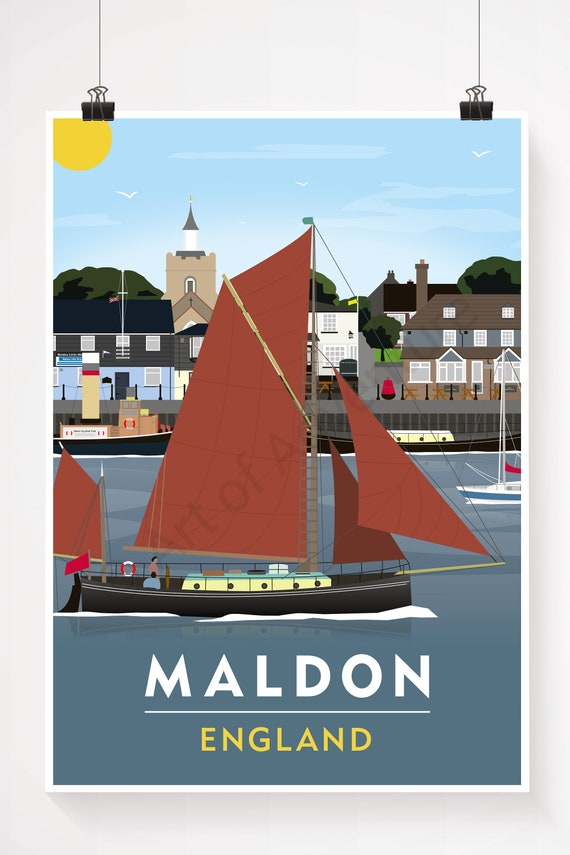 TU63 Vintage Maldon Essex British Railways Travel Poster Print A2//A3