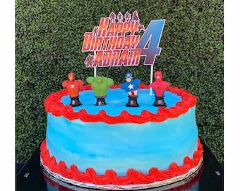 Avengers Inspired Cake Topper