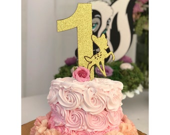 a848d7b5b Bambi Cake Topper   Smash Cake Topper   Bambi Smash Cake Topper   1st Birthday  Cake Topper   Bambi Birthday Party   Bambi Baby Shower  Fawn