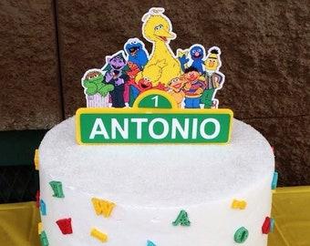 Sesame Street Inspired Cake Topper