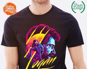 2ffcb751daa58b Unisex Mens  Logan Shirt   Wolverine T-Shirt   Logan Movie T-shirt   Retro  Shirt   Neon Colors   Hugh Jackman Tee   Logan Hoodie