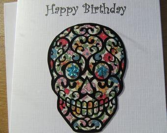 Sugar skull  Happy Birthday card
