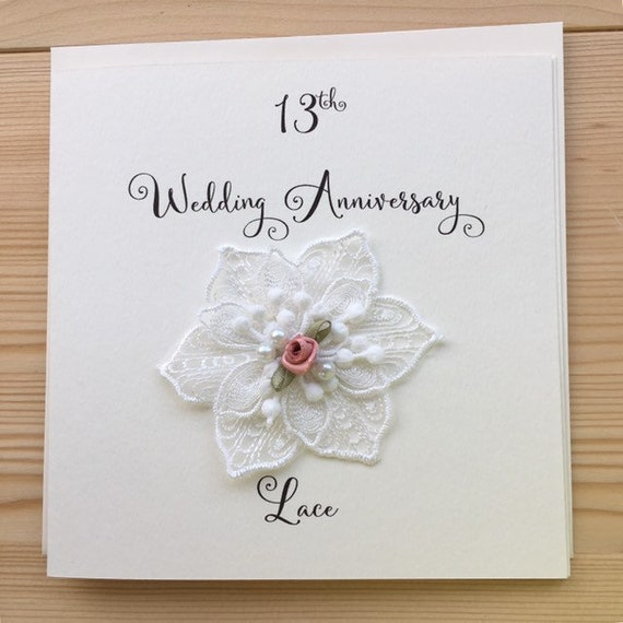 8th anniversary card - lace - wedding anniversary- 8 years marriage -  Husband - Wife