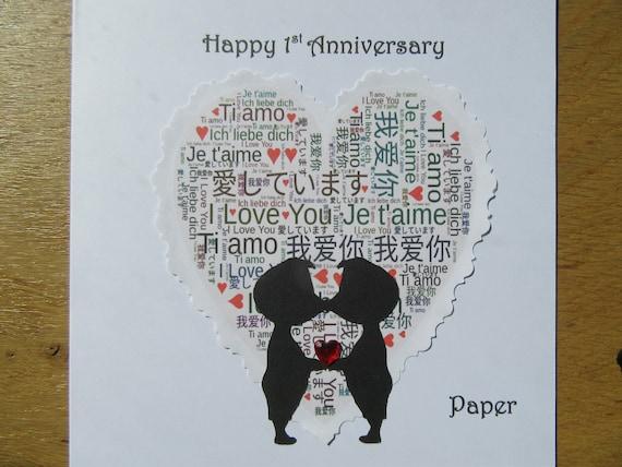Anniversary gay couple card