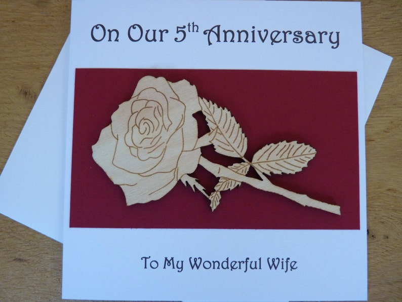 5th Wedding Anniversary Card 5th Anniversary Card Card For Etsy