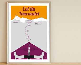 Poster Col du Tourmalet Tour de France A4