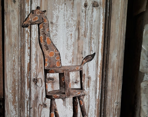 Giraffa in legno