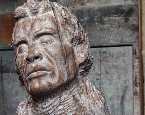 Compositore, scultura in legno