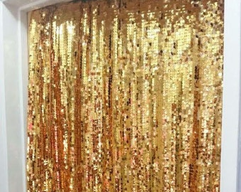 Mardi Gras Party Sequin Backdrop Champagne Gold Favors Supplies New Orleans Fat Tuesday Jazz Carnival