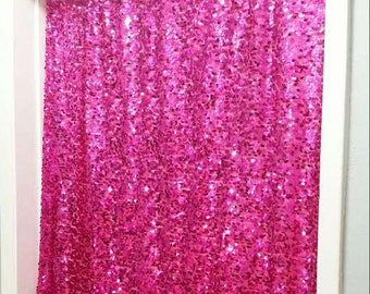 1st Birthday Backdrop, Hot Pink Sequin Backdrop, Glittery Birthday Girl, 1st Birthday Girl, One Year Old, Baby's 1st Birthday,Happy Birthday