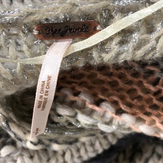 Free People Vintage Boho Chic Crocheted Sweater C… - image 7