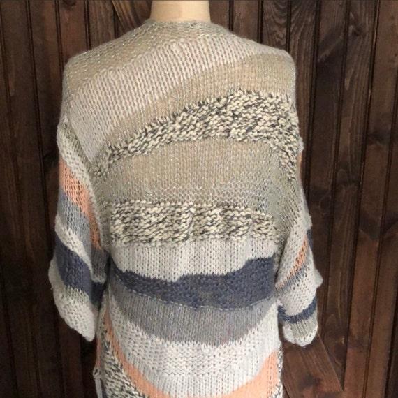 Free People Vintage Boho Chic Crocheted Sweater C… - image 4