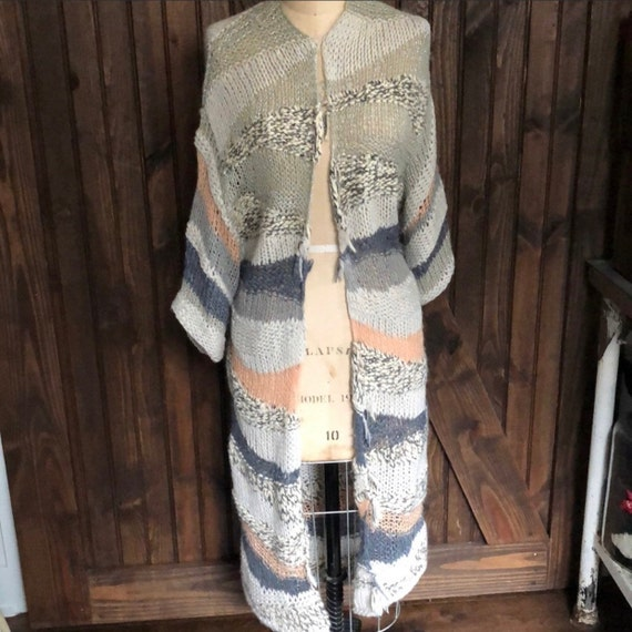Free People Vintage Boho Chic Crocheted Sweater C… - image 2