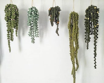 PATTERN - All 5 Vines, Easy Crochet Guide, Step by Step, Make your own Plants and Macrame Hanger