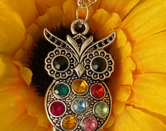Owl Jewelry Birthday Gift Glow In The Dark Owl and Moon Necklace Owl Gifts Gifts For Her Bird Necklace Christmas Gift