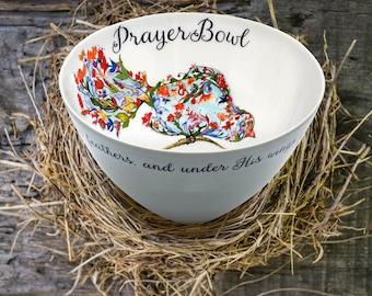 Prayer Bowls   |   Josephine Prayer Bowl  |   Psalm 91:4 |  Prayer Bowls Christian   |  Sympathy Gifts | Christmas Gift