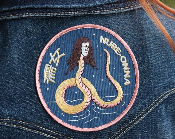 Nure-Onna Extra Large Snake Woman Iron on  japanese Patch