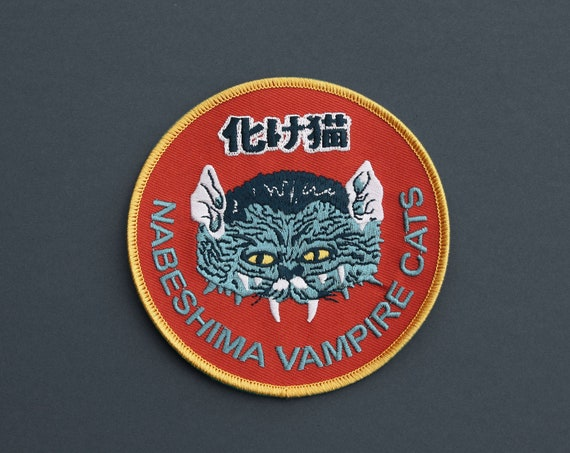 Nabeshima Extra Large Vampire Cat Iron on  japanese Patch