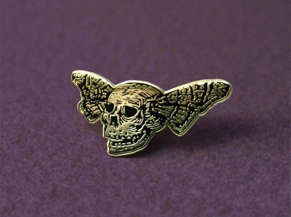 Lapel pin: Butterfly Skull
