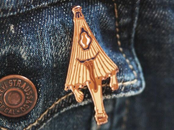 Japanese youkai lapel pin : kasa-obake (karakasa)