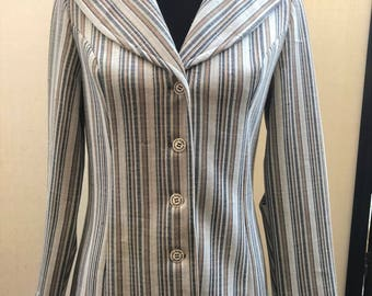 b84543f6ab17a Collegian of California Vintage 70 s Women s Blazer