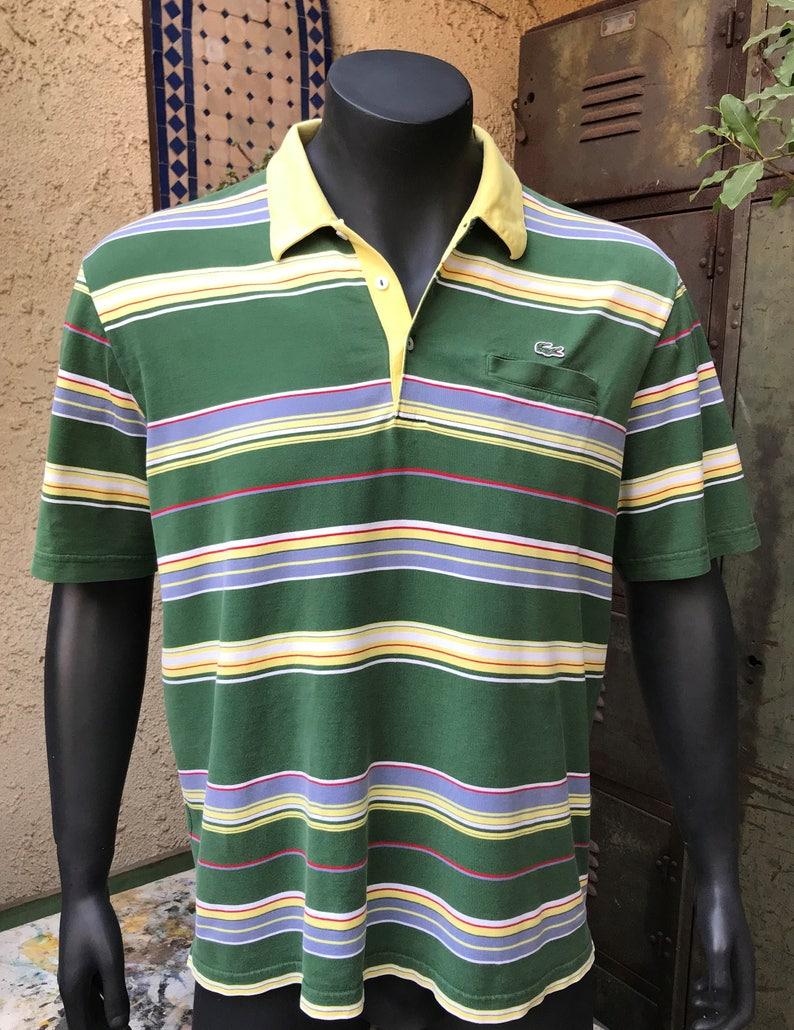 ad98c8e1 Lacoste Vintag striped Polo Shirt Size Medium Vintage | Etsy