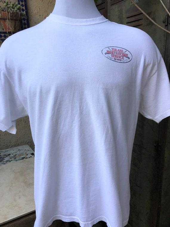 1b53dbdc4 Tulare Meat Locker Vintage T-Shirt Tulare Meat Locker Service | Etsy