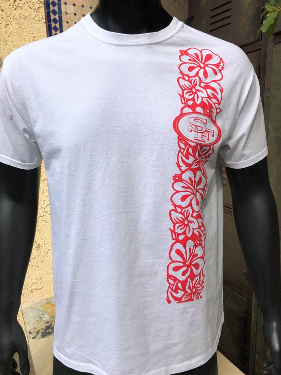 Aloha SF Vintage White T Shirt, Country Tile and Stone Inc., Size Large 100% Cotton