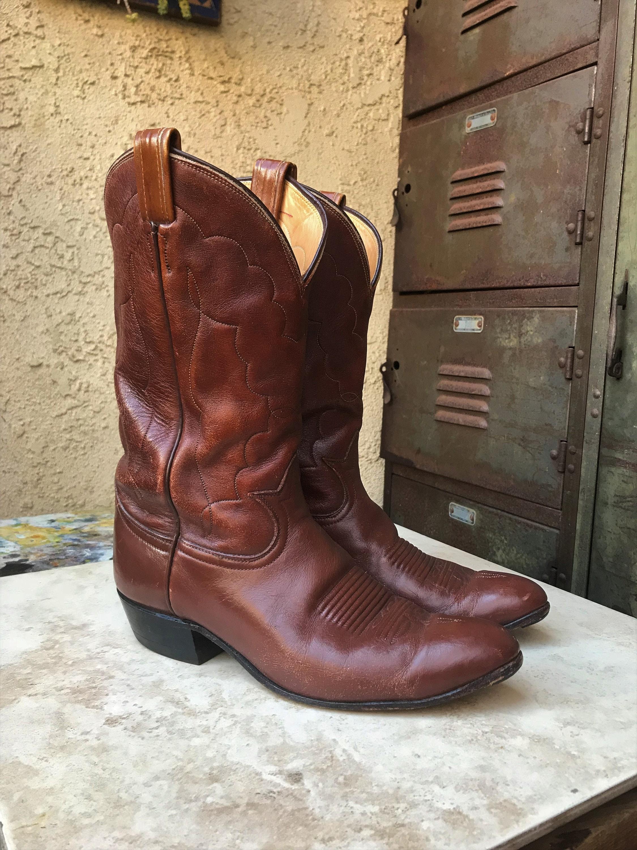 b4d4f89acd5 Tony Lama Vintage Men's Size 8 1/2 Cowboy Boot, Vintage Tony Lama ...