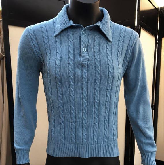 John Blair Menswear Vintage 1970's Baby Blue 100%