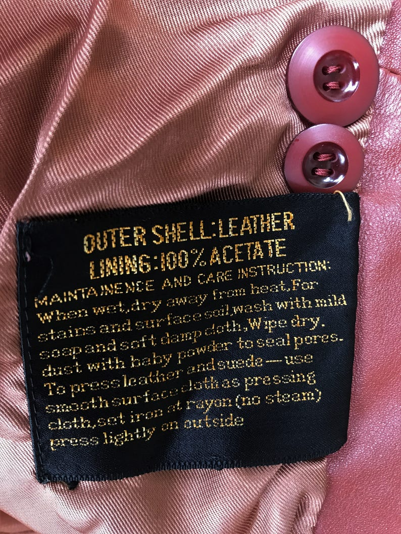 Condor Field International Womens 70/'s Vintage Leather Jacket Size 1112 Leather Jacket